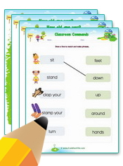 Classroom Commands Worksheets