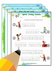Sports/Exercises Worksheets