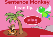 Action Verbs Present Simple Sentence Monkey Game
