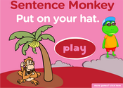 Clothes Sentence Monkey Game