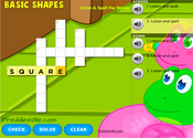 Shapes Vocabulary Crossword Puzzle Online