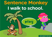 Transportation Sentence Monkey Game
