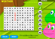 Weather Word Search Puzzle Online