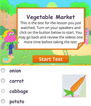 vegetables test
