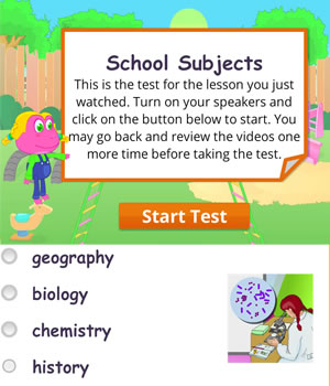 school-subjects test