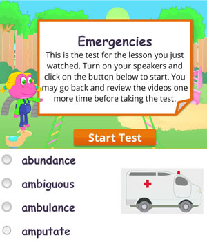 emergencies test