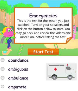 emergencies test