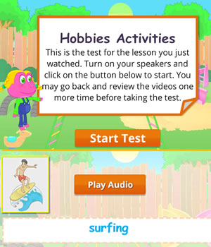 hobbies test