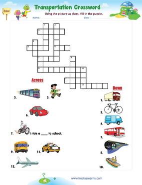 transportation crossword