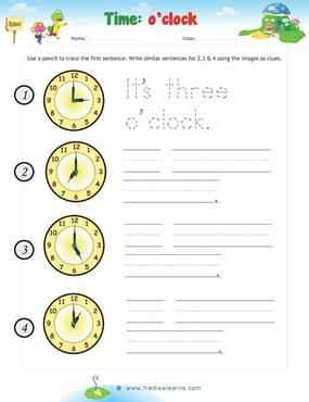 time o clock Writing