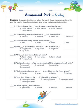amusement spelling