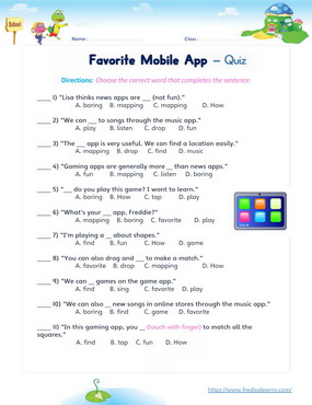 favorite mobile app quiz