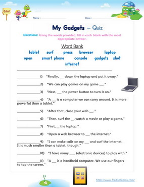 my gadgets quiz