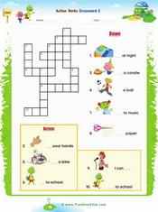 Action verbs Crossword 2