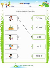 Action Verbs Matching Exercise 2
