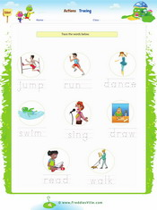 Action Verbs Spelling Exercise