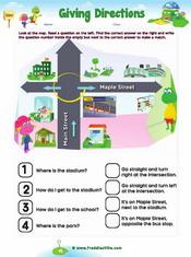 Giving Directions Worksheet