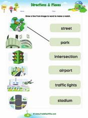 Places Around Worksheet