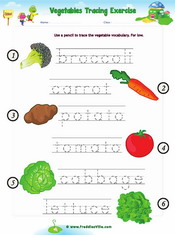 Vegetable Matching Worksheet